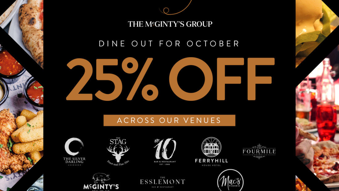 Dine Out for October